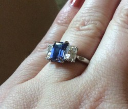 Moissanite Co Sapphire Ring. Gorgeous!  $225