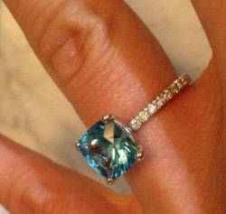 Beautiful Diamond/Blue Topaz Ring, Gemvara -$200