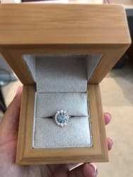 Kristin Coffin designed C&C gray moissanite ring!