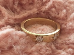 Heavy 14k yellow gold Jabel Ring
