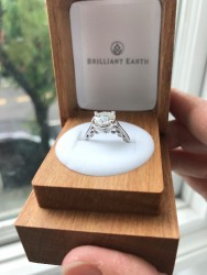 8.5mm Super Brilliant Moissanite Never Worn