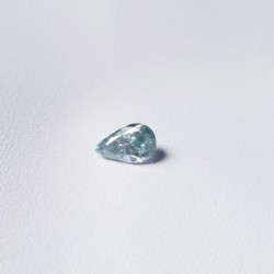 Loose 0.96 ct Light Blue Pear cut moissanite