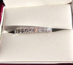 Bluenile French Pave Eternity Band Ideal Cut. New
