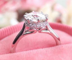 """Julia"" Setting by LAD Platinum size 4.75"