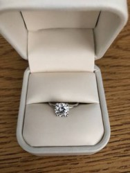 1.5 ct Moissanite Engagement Ring