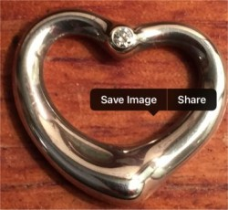 Elsa Peretti  Tiffany & Co. Open Heart w/ Diamond