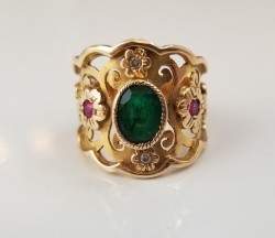 Emerald & Ruby Gold Ring