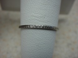 Platinum Wheat Engraved Eternity Band Size 6.5
