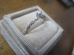 14k filigree heart ring setting