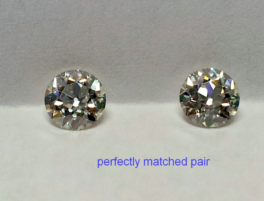Beautiful pair of 6mm OEC moissanite