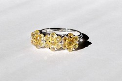 2.62ct  Natural Yellow Sapphire Ring