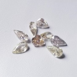 Parcel of 8 loose pear cut moissanite stones